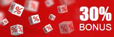bonus 30%
